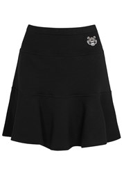 Kenzo Black Tiger Embroidered Fleece Mini Skirt