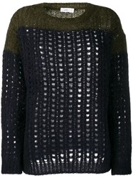 Closed Cable Knit Jumpers Blue