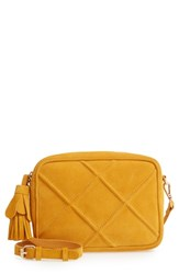 Leith Quilted Leather Crossbody Bag Yellow Mustard