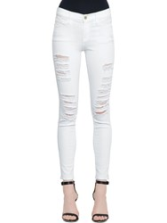 Frame Le Color Ripped Skinny Denim Jeans White