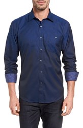 Bugatchi Men's Shaped Fit Ombre Sport Shirt