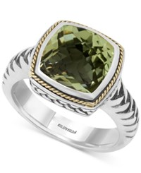 Effy Collection Balissima By Effy Green Amethyst 4 Ct. T.W. Ring In 18K Gold And Sterling Silver
