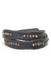 Men's Will Leather Goods 'Black' Wrap Bracelet