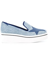 Stella Mccartney Star Binx Slip On Loafers Blue