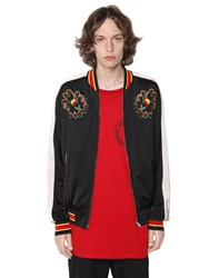 Stella Mccartney Embroidered Techno Satin Bomber Jacket