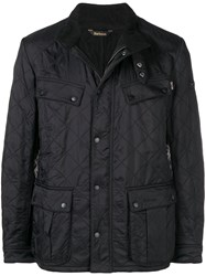 Barbour Quilted Shirt Jacket Black