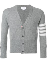 Thom Browne Short V Neck Cardigan With 4 Unavailable