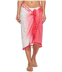 San Diego Hat Company Bss1812 Woven Dip Dye Sarong Cover Up Pink Scarves