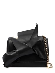 N 21 Small Bow Nappa Leather Shoulder Bag Black