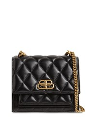 Balenciaga Sharps Quilted Leather Shoulder Bag Black