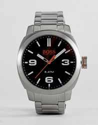 Boss Orange By Hugo Cape Town Watch With Black Dial Silver