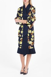 Martin Grant Women S Printed Kimono Dress Boutique1 Navy