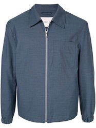 Cerruti 1881 Front Zipped Jacket Blue