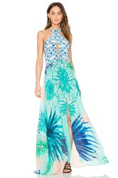 Caffe Keyhole Maxi Dress Mint