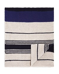 Bloomingdale's The Men's Store At Collegiate Stripe Scarf Navy Taupe