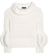 Burberry Cotton Blend Sweater White