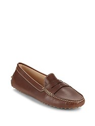 Tod's Gommini Leather Moccasins Brown