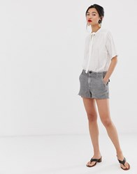 Mango Raw Hem Pocket Detail Short In Grey