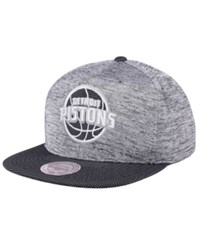 Mitchell And Ness Detroit Pistons Space Knit Snapback Cap Gray