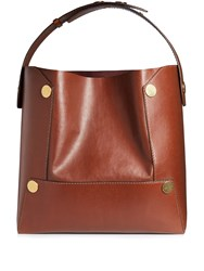 Stella Mccartney Faux Leather Tote Dark Brown