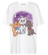 Coach X Disney Printed Cotton T Shirt White