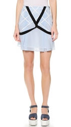 Band Of Outsiders Lattice Miniskirt Denim