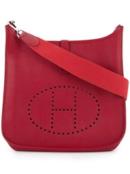 Hermes Vintage Evelyne Shoulder Bag Red