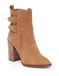Bcbgeneration Savanna Buckled Suede Ankle Boots Brown