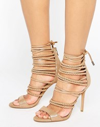 Forever Unique Maple Strappy Heeled Sandal Bronze Beige