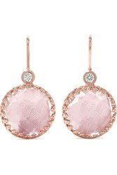 Larkspur And Hawk Olivia Button Small Rose Gold Dipped