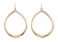 Fiorelli Costume Matte Gold Open Oval Hoops