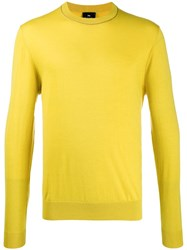 Paul Smith Ps Long Sleeve Knit Jumper Yellow