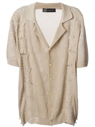 Versace Macrame Cardigan Nude And Neutrals