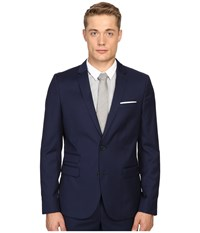 The Kooples Fitted Suit Jacket W Pocket Square Blue