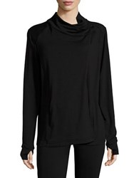 B Collection By Bobeau Asymmetrical Knit Jacket Black