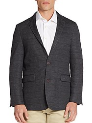Vince Camuto Seamed Wool Blend Sportcoat Charcoal