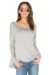 Feel The Piece Mocking Bird Top Gray