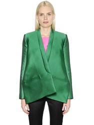 Maison Rabih Kayrouz Geometric Techno And Silk Satin Jacket
