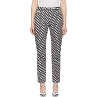 Alexachung Black And White Check Flared Jeans