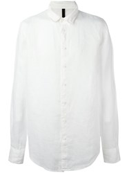 Poeme Bohemien Classic Plain Shirt White