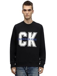 Calvin Klein Jeans Ck Large Print Cotton Blend Sweatshirt Black