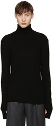 John Lawrence Sullivan Black Ribbed Turtleneck