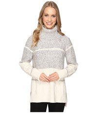 Nic Zoe Boarderlines Turtleneck Heather Grey Women's Sweater Gray