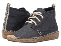 Soludos Demi Wedge Desert Bootie Navy Heavy Woven Canvas Women's Lace Up Boots