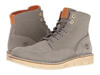 Timberland Westmore Leather Fabric Boot Medium Grey Nubuck Canvas Men's Lace Up Boots Gray