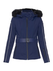 Fendi Fox Fur Trimmed Hooded Ski Jacket