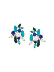 Shourouk Swarovski Crystal Earrings Blue