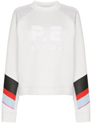 P.E Nation Textured Logo Sweatshirt White