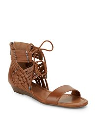 Jessica Simpson Lourra Woven Wedge Sandals Brown