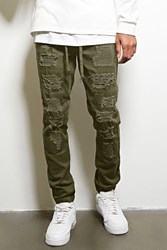 Forever 21 Victorious Distressed Joggers